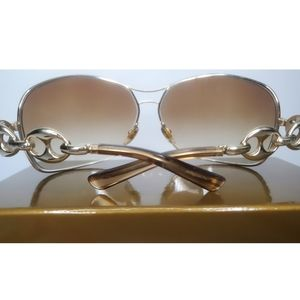 Gucci Link Gold Sunnies